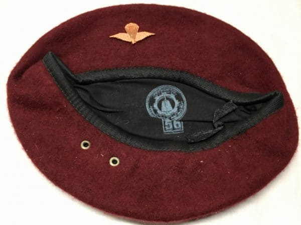 31ed9c3f85f22 Iraqi Paratrooper Maroon Beret with Badge OIF - Enemy Militaria