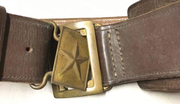 Chinese Korean War Officer's Wide Leather Sam Browne Belt