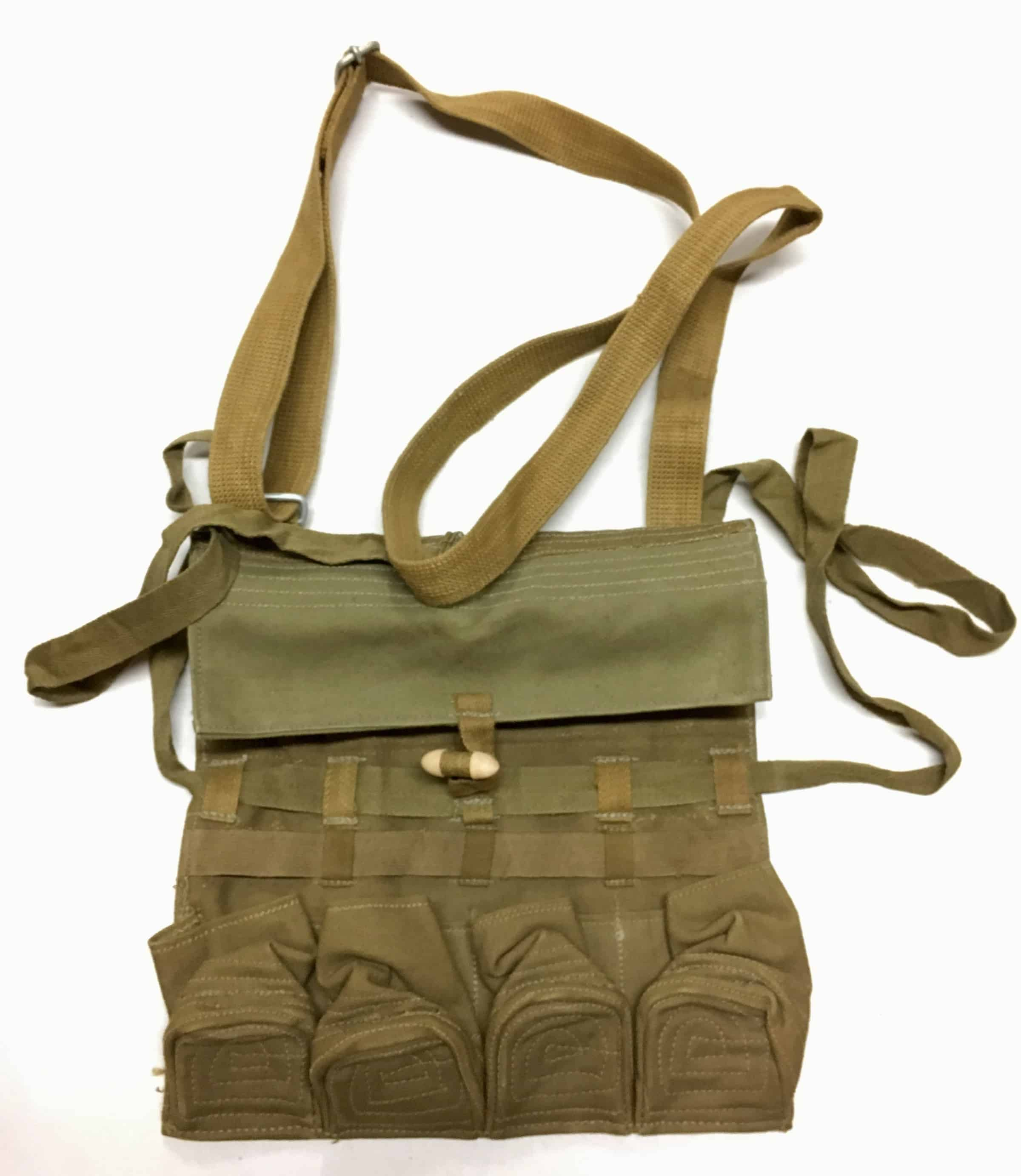 Chinese PLA Four Cell Stick Grenade Pouch 1960